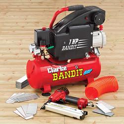 2241005 BANDIT IV 8LITRE AIR COMPRESSOR NAILING/STAPLING KIT